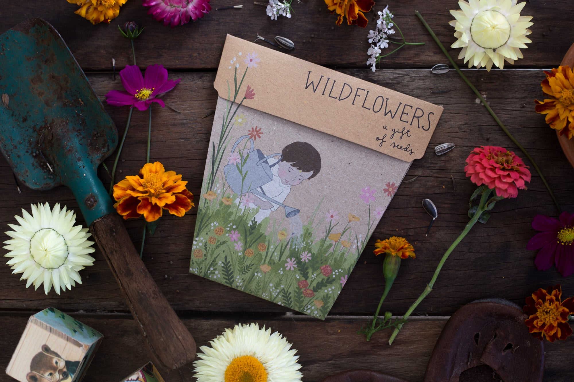 Card & Wildflowers Gift of Seeds
