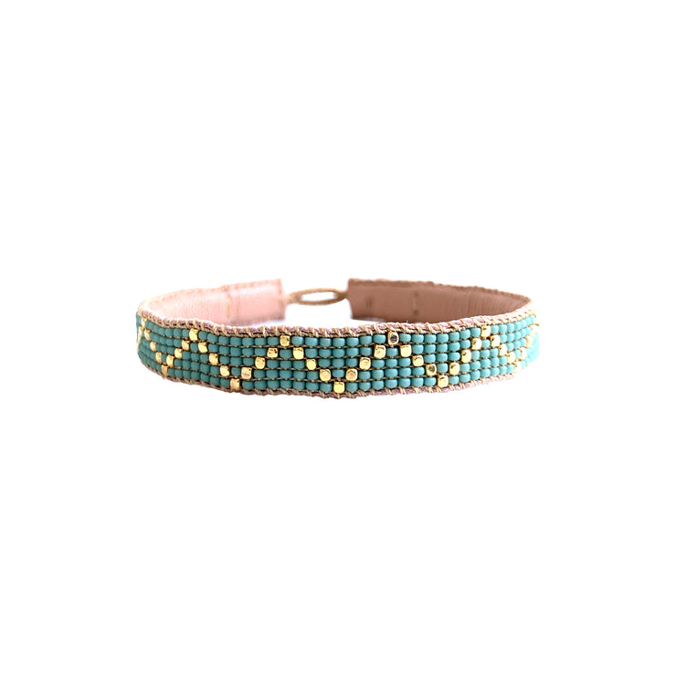 ibu jewels armband zig zag sea foam