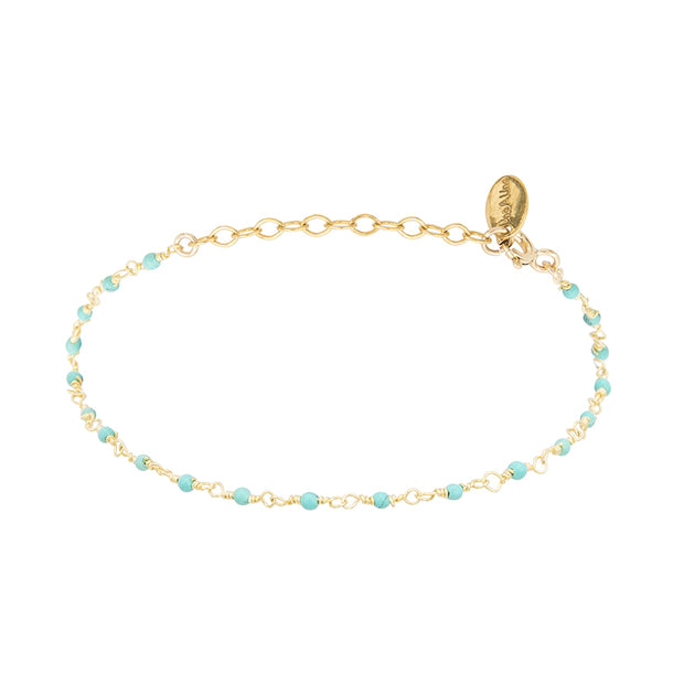 une a une armband lagon turquoise