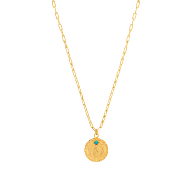 une a une ketting scarabee turquoise