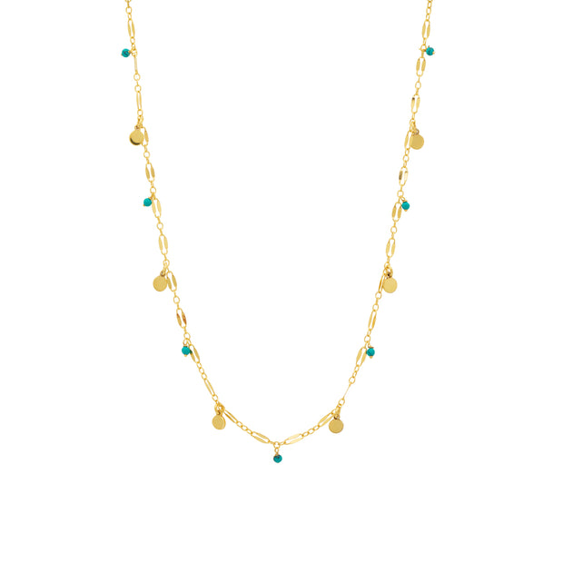 une a une ketting seville turquoise