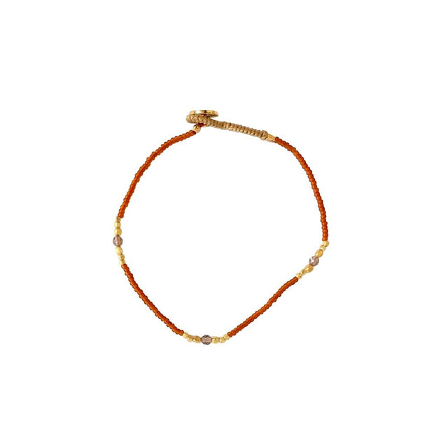 ibu jewels armband lulu 3 stone orange
