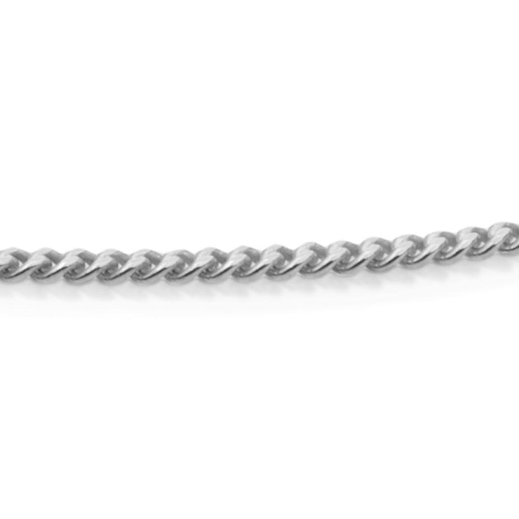 sparkling jewels curb chain silver
