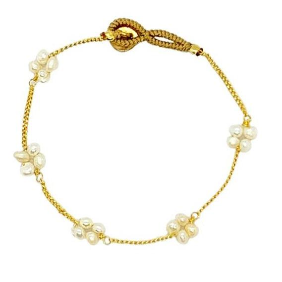 ibu jewels armband pearl square