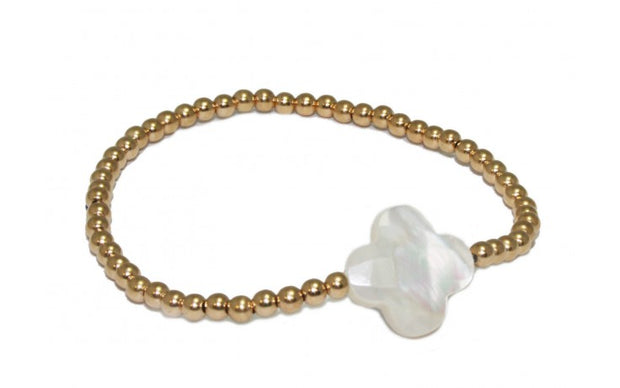 pscallme armband clover pearl gold