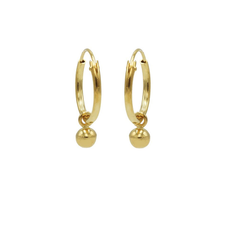 karma oorbellen hoops mini dot goldplated