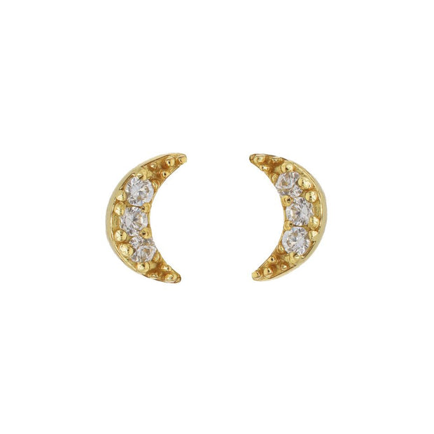 karma oorstekers zirconia symbols moon gold