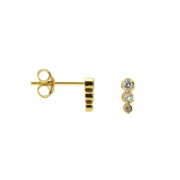 karma oorstekers zirconia symbols dotty row gold