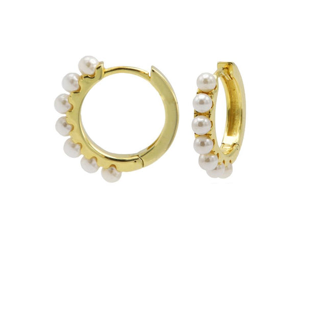 karma oorbellen hoops pretty pearls gold