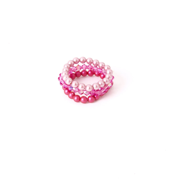widaro swarovski ring parel roze