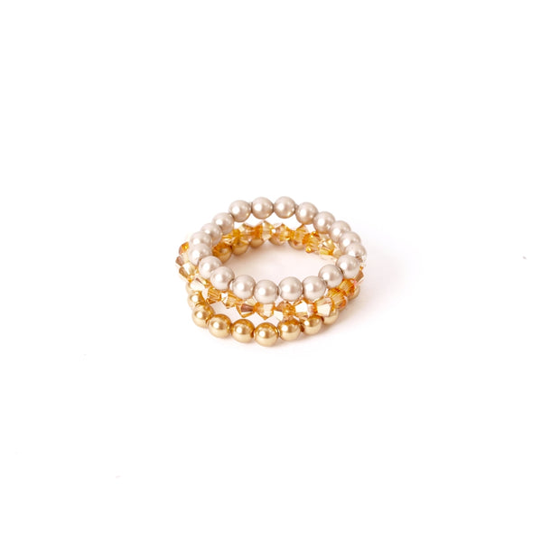 widaro swarovski ring parel goud