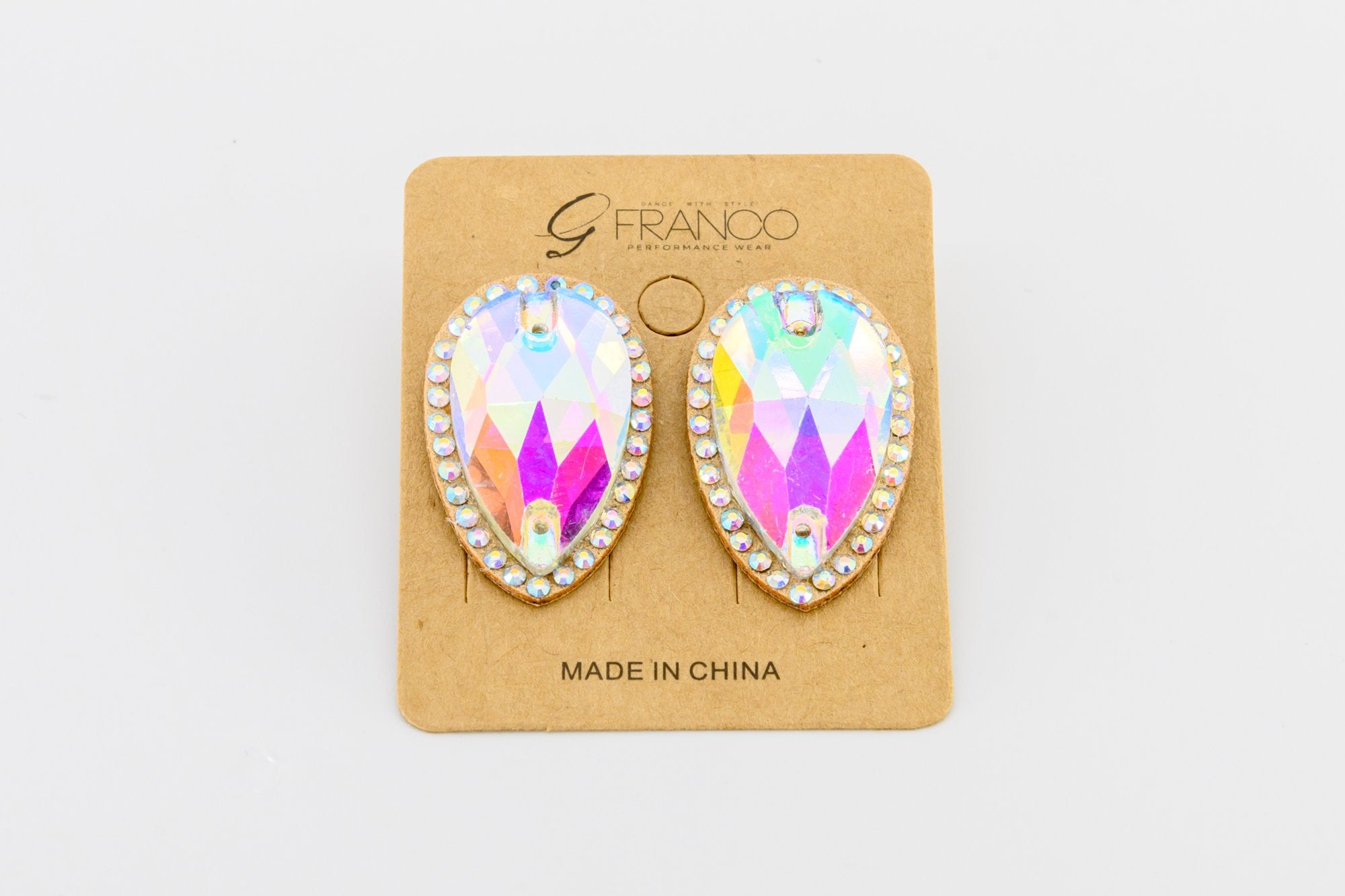 Teardrop - Rhinestone Ear Ring (4000)