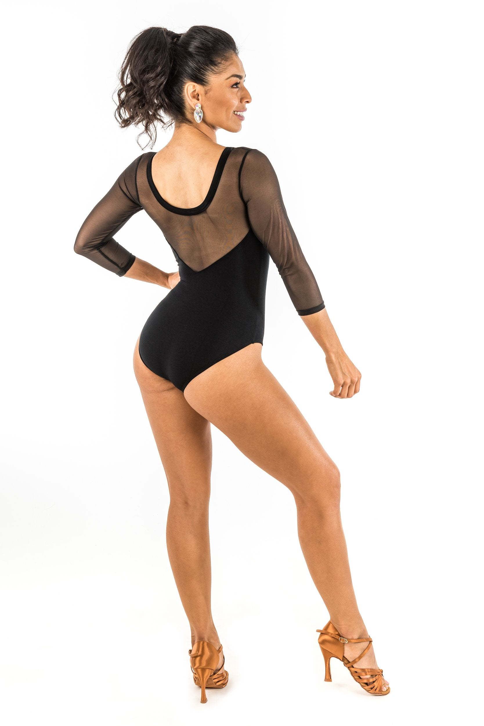 Leotard - Long Sleeve Scoop Neck (470AW)