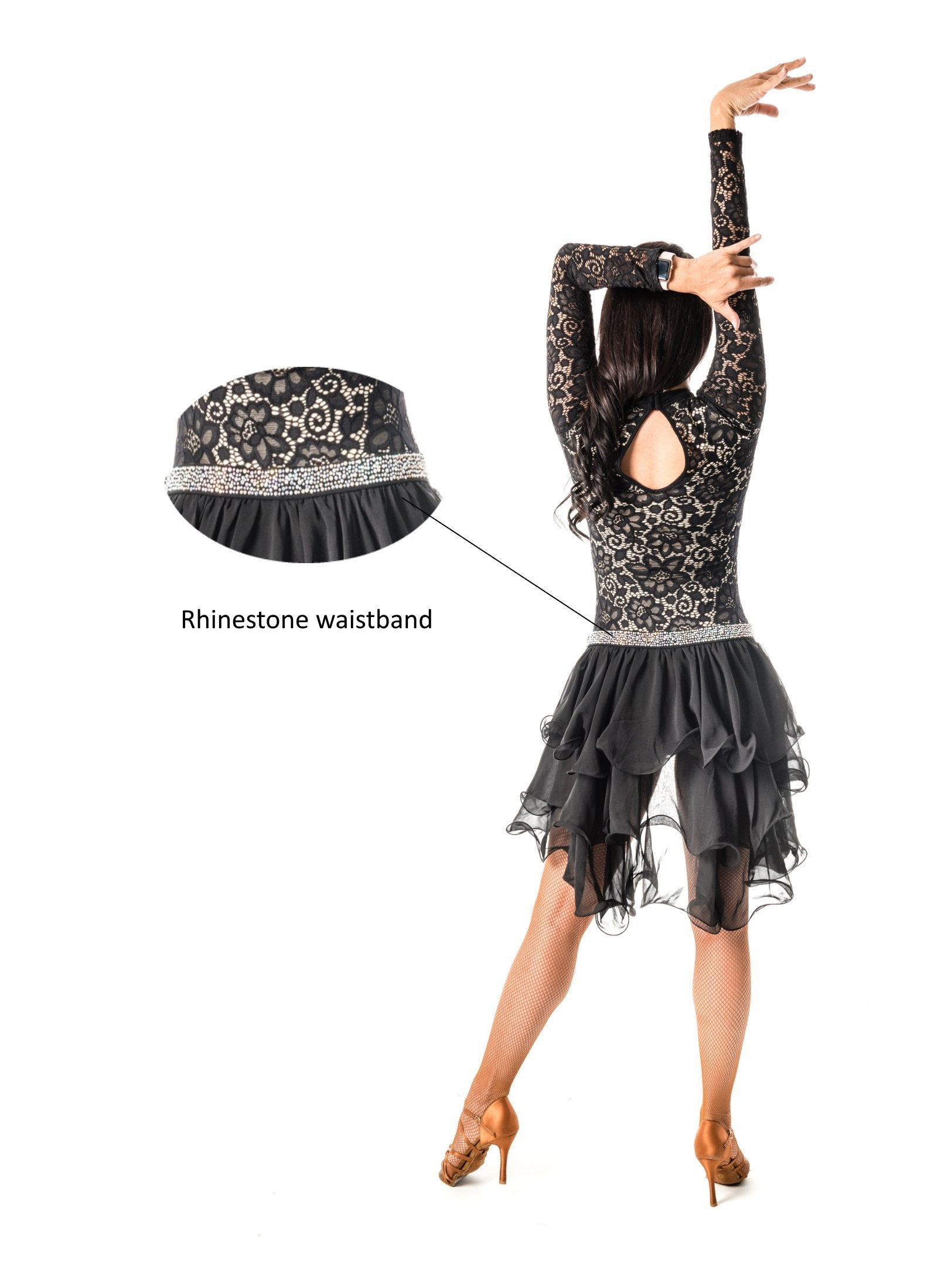 Short Ruffle Dance Skirt (CW140)
