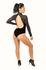 Leotard - Mesh Long Sleeve with Rhinestones (CW160)