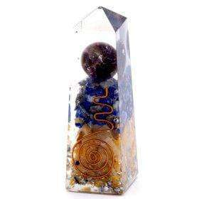 Nonstop Natur Orgonite Obelisk Power Point Kupfer, Lapis und gelbes Aventurin - 90x25 mm Orgonite Obelisk Power Point Kupfer, Lapis und gelbes Aventurin - 90x25 mm