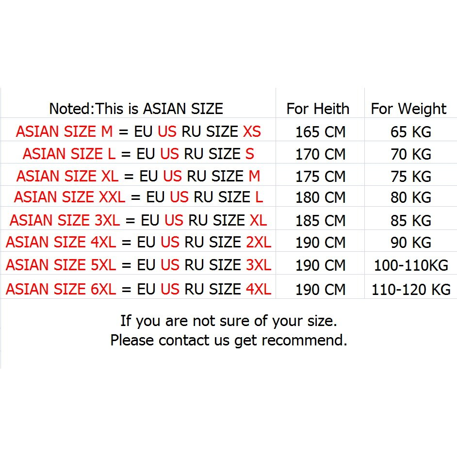 what are asian sizes in the us