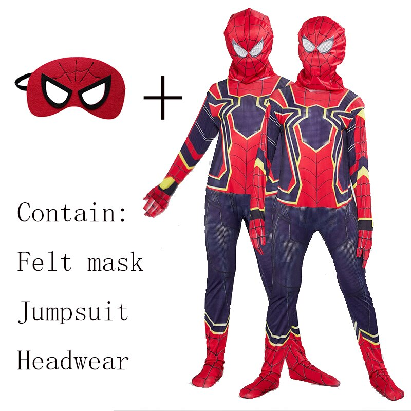 Kids Spider Man Far From Home Peter Parker Cosplay Costume Zentai Spid Thursday Field