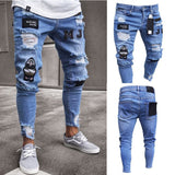 Pantalon Biker<br> Blue Ripped Denim