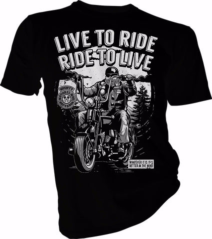T-Shirt Biker<br> Live to Ride
