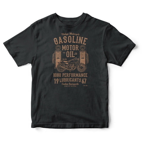 T-Shirt Biker<br> Gasoline Motor Oil