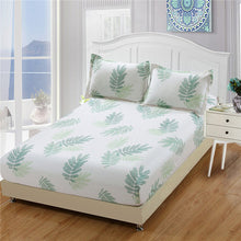 Load image into Gallery viewer, Home textile 100% cotton sheets stripe mattress cover bed sheet solid color fitted sheet bedspread twin full queen king 8 size