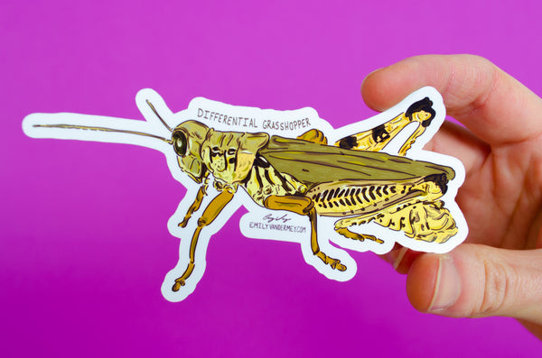 Sticker: Differential Grasshopper