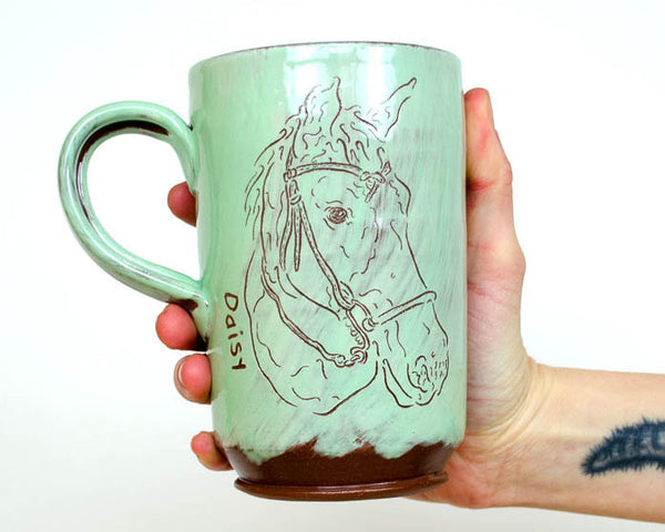 Sweet and Simple Pet Mug - Seafoam PRE ORDER