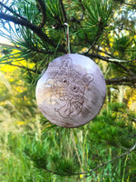 Lavender Purple Customized Cat Ornament