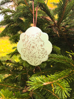 Scalloped Edge Ornament - Seafoam Pre Order 2021