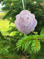 Scalloped Edge Ornament - Lavender Pre Order 2021