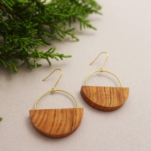Round Drop Earings