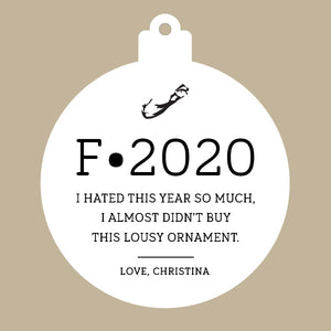 F•2020 Custom Cedar Ornament