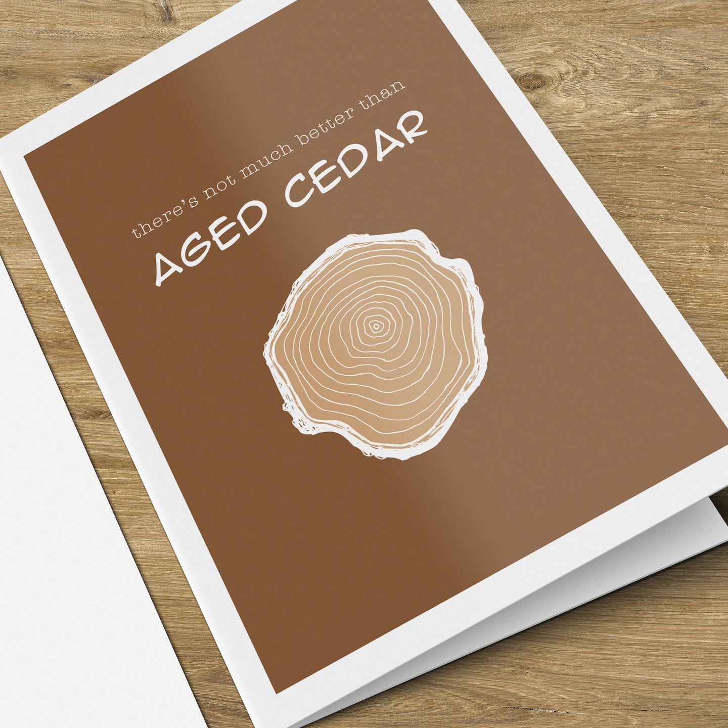 Aged Cedar Birthday Card