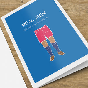 Real Men Birthday Card