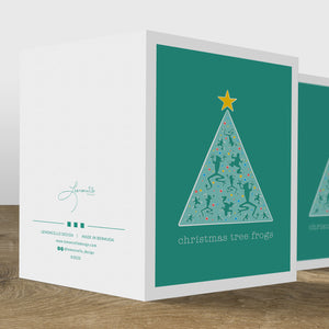 Christmas Tree Frog Card