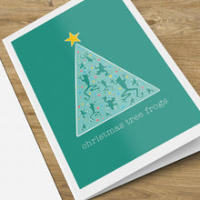 Load image into Gallery viewer, Christmas Tree Frog Card