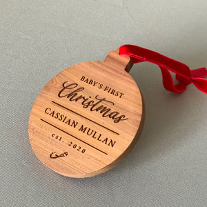 Baby's 1st Custom Cedar Ornament