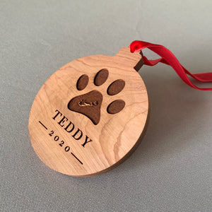Dog Custom Cedar Ornament