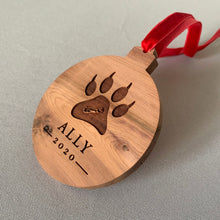 Load image into Gallery viewer, Cat Custom Cedar Ornament
