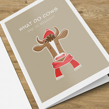 Load image into Gallery viewer, Brrr...Moo, Duh. Christmas Card