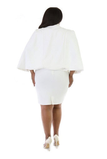 Cape Plus Mini Dress