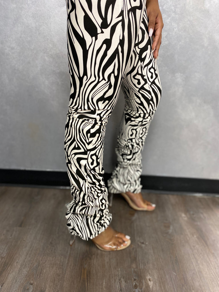 Scrunch Zebra Pants