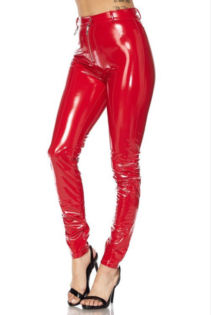 Candy Apple Latex Pants