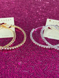 Midi Rhinestone Hoop Earrings
