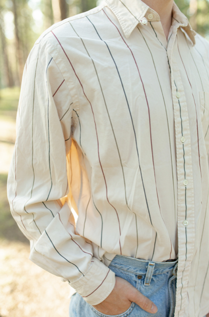 Vintage Striped Button Down