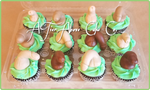 Chocolate fondant penis cupcake toppers