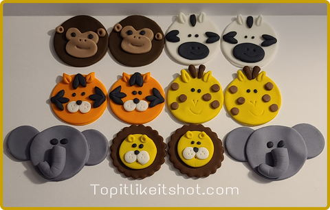 Zoo / Jungle animal cupcake toppers!