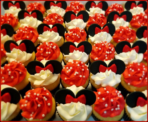 Minnie Mouse Cupcake Toppers
