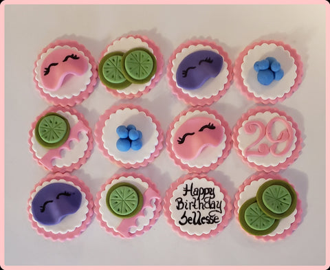 Spa Day Cupcake Toppers